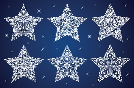 Set of a pattern in a shape of a star. Stock Vector - 11043533