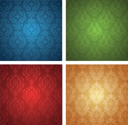 Set of a christmas wallpapers. Stock Vector - 11102182