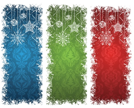Set of a christmas banners. Stock Vector - 11102183