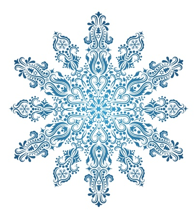 Pattern in a shape of a snowflake. Vector