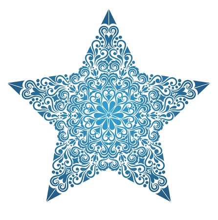 Pattern in a shape of a star.