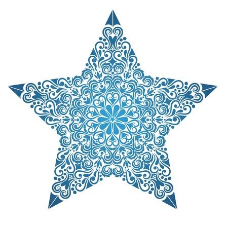 Muster in einer Form eines Sterns. Standard-Bild - 11150632