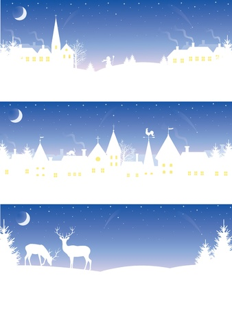 Set of a christmas banners. Vector