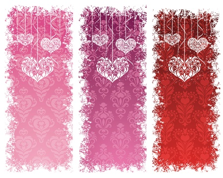 Set of a valentine Vector