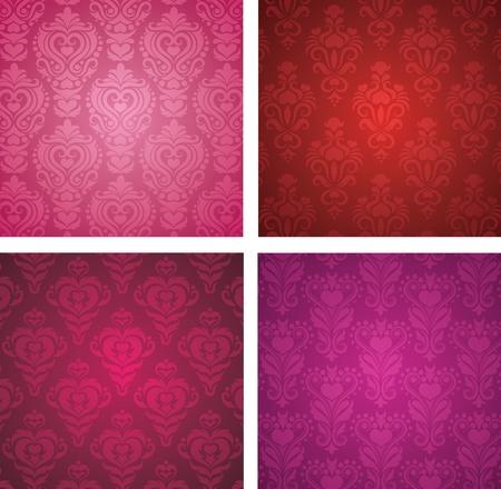 valentine background: Set of a Valentine