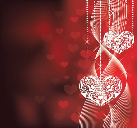 Valentines day backround. Vector