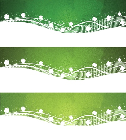 irish banner: Set of a St. Patricks Days day banners.