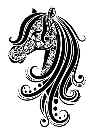 cute tattoo: Abstract horse.