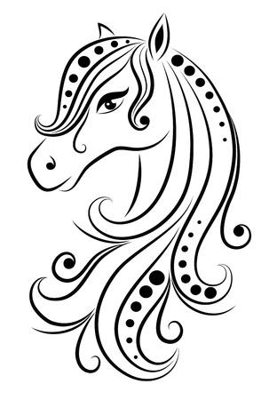 tatouage: R�sum� cheval. Illustration