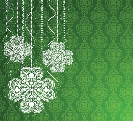 clover banners: St. Patricks Day. Illustration