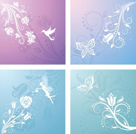 fairy wings: Floral pattern.