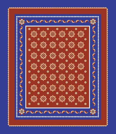 headscarf: Seamless pattern in a frame.