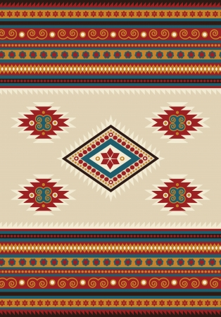 Ethnic pattern for a pullover. Vector