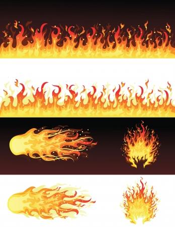 palla di fuoco: Serie di incendi.