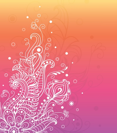 Pattern on the colorful background. Vector