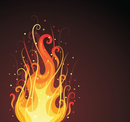 bonfire: Pattern in a shape of a fire on the dark background.