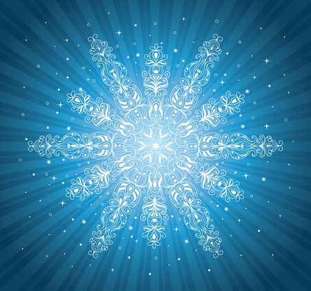 Pattern in a shape of a snowflake Stock Vector - 15860713
