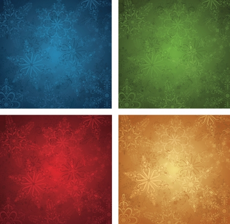 Set of a christmas wallpapers. Vector