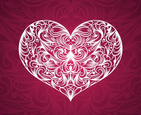 Pattern in a shape of a heart  Vector