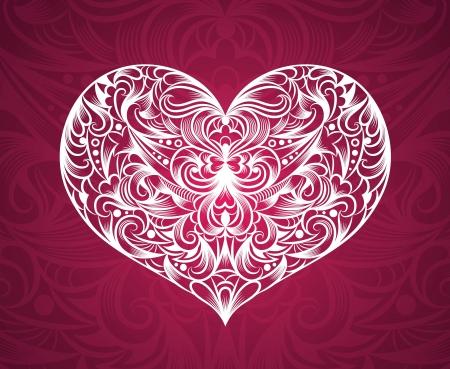 Motif dans une forme de coeur
