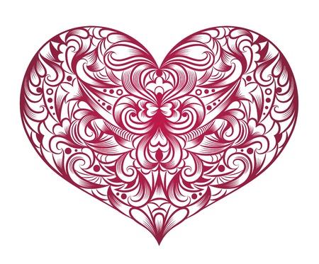 Pattern in a shape of a heart. Vector