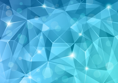 Abstract blue crystal background. Illustration