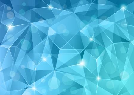 Resumen de fondo de cristal azul. Ilustración de vector
