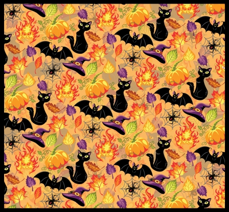 Seamless pattern for Halloween Stock Vector - 20982291