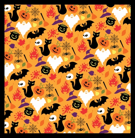 Seamless pattern for Halloween  Vector