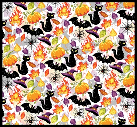 Seamless pattern for Halloween Stock Vector - 20982293