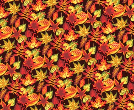 Seamless autumn pattern with leaves Stock Vector - 21462468