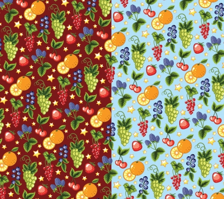 Wallpaper of the colorful fruits