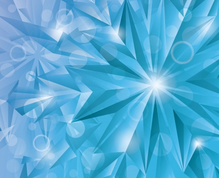 Winter abstract crystal background  Vector