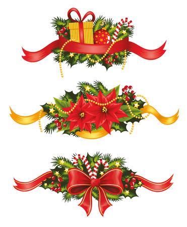 christmas decoration: Set of christmas banners