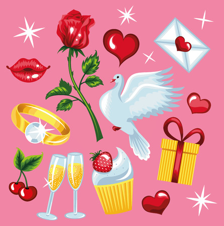 Beautiful collections for Valentine s day  Vector