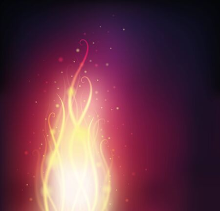 Background with fire and sparks   Ilustração