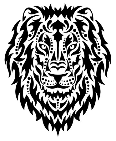 Head of a lion. Vector