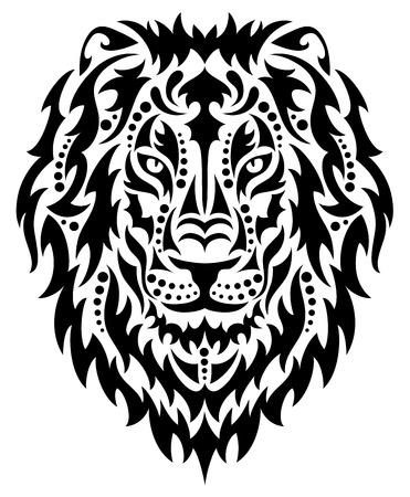állat fej: Vezetője egy oroszlán. Illusztráció