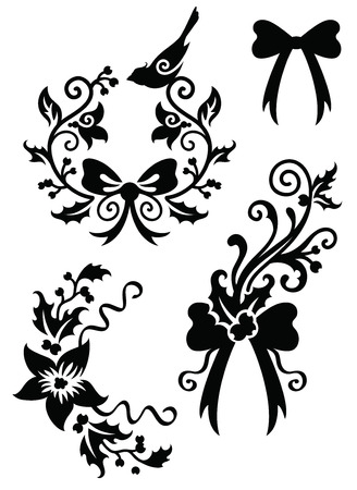 Set of Christmas decoration. Vector