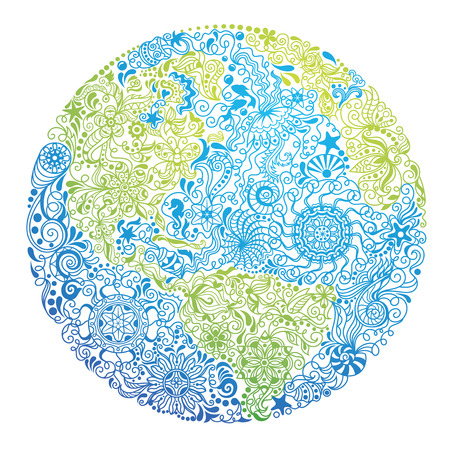 Pattern in a shape of our Planet.