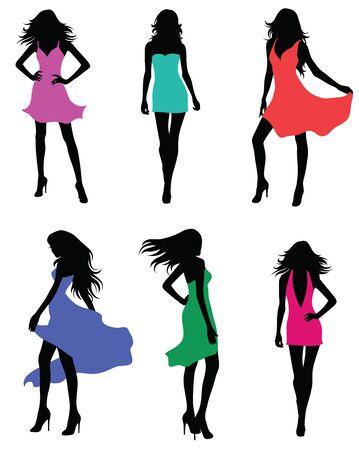 Set of fashion models. Banco de Imagens - 42484821