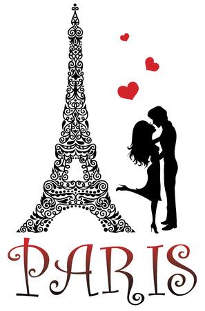 Paris is the city of love. 向量圖像