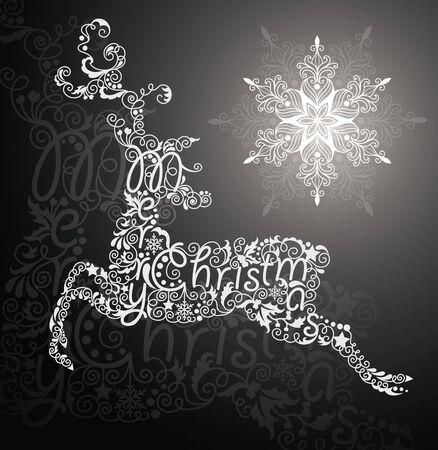 Christmas card with reindeer.