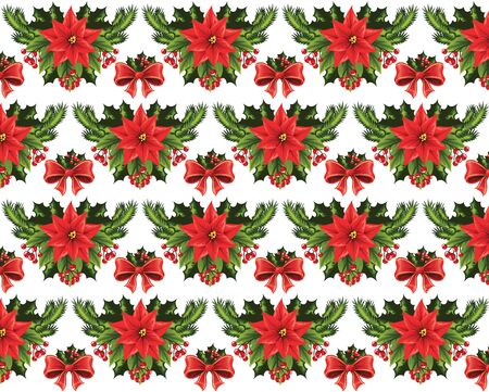 Seamless Christmas pattern on a white background. 向量圖像