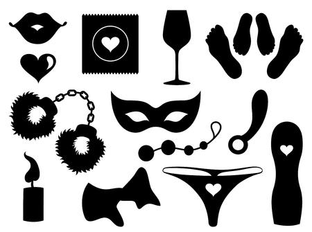Set of sexy icons. 向量圖像