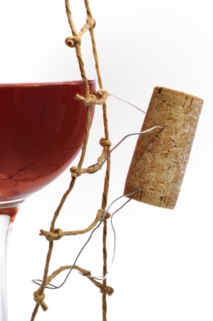 Red Wine and corck Stock Photo - 10041763