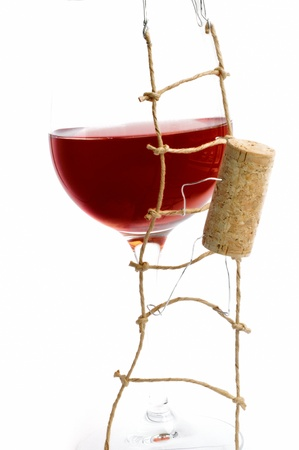 Red Wine and corck Stock Photo - 10041765