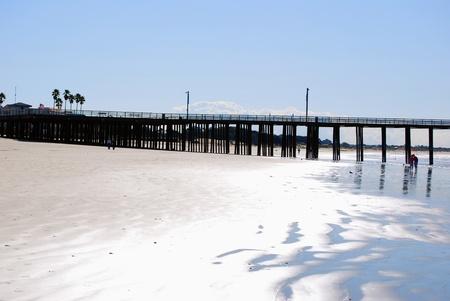 bridge in the beach Stock Photo