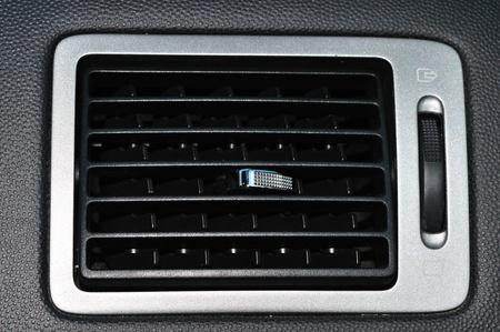Car ventilation system. Air conditioning holes in automobile interior