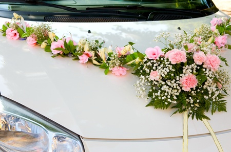Wedding car, for driving bride and groom during wedding Stock Photo